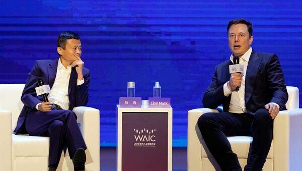 Elon Musk e Jack Mai alla Conferenza Mondiale sull'IA, agosto 29 del 2019 - Sputnik Italia