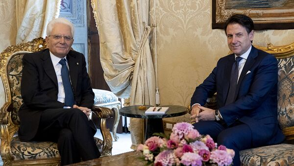 Roma - Il Presidente della Repubblica Sergio Mattarella con il Prof. Giuseppe Conte, oggi  29 agosto 2019. - Sputnik Italia