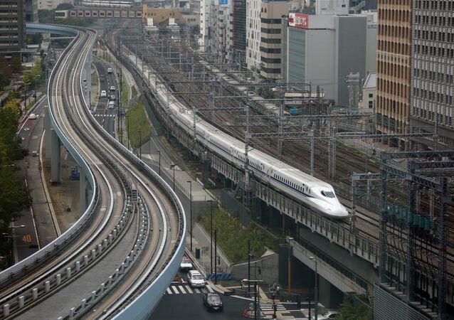 Un treno in Giappone