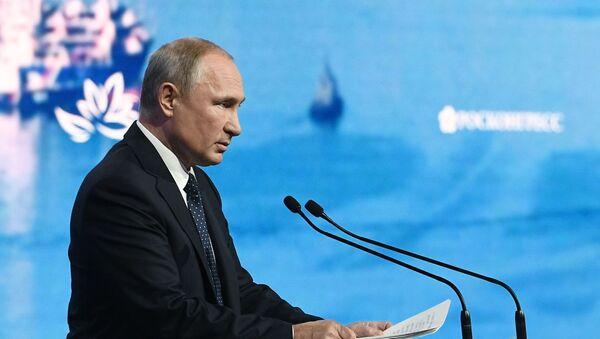 Presidente russo Vladimir Putin al Forum Economico Orientale 2019 - Sputnik Italia