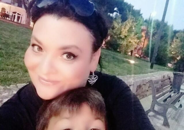Anna Varganova con figlio