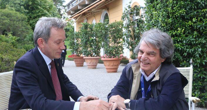 Evgeny Utkin e Renato Brunetta in conversazione
