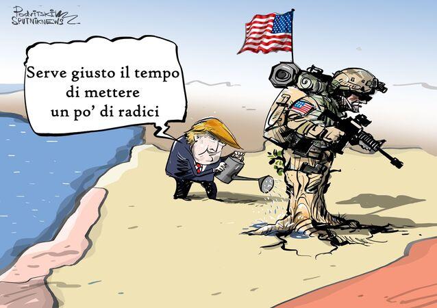 Gli Stati Uniti stanno cercando di risolvere il problema della legittimità della propria presenza in Siria temporaggiando.
