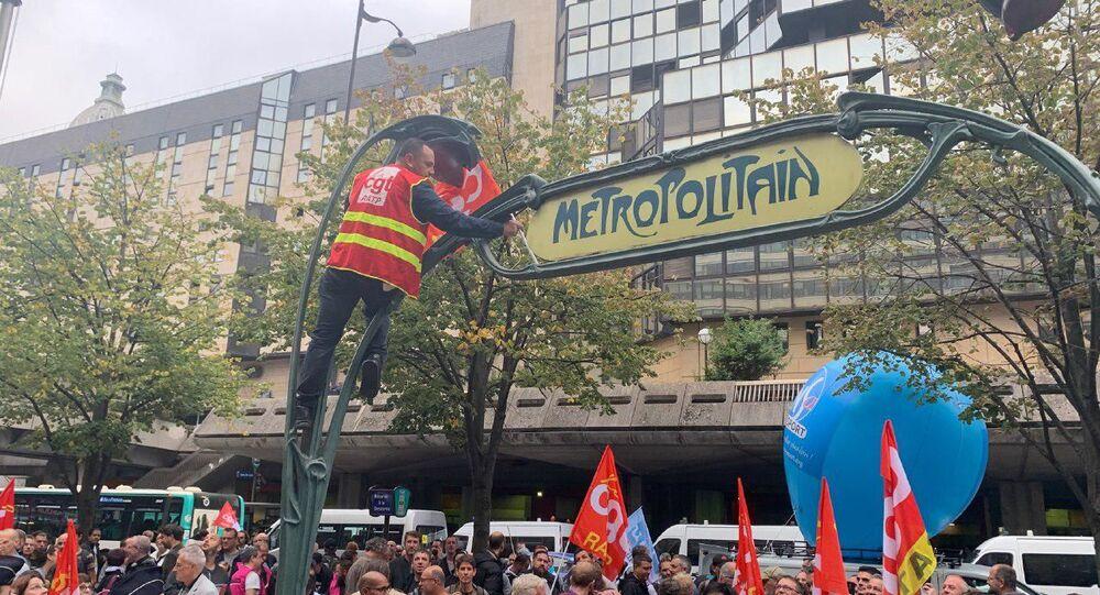 Lo sciopero degli indetti nel settore Trasporti in Francia