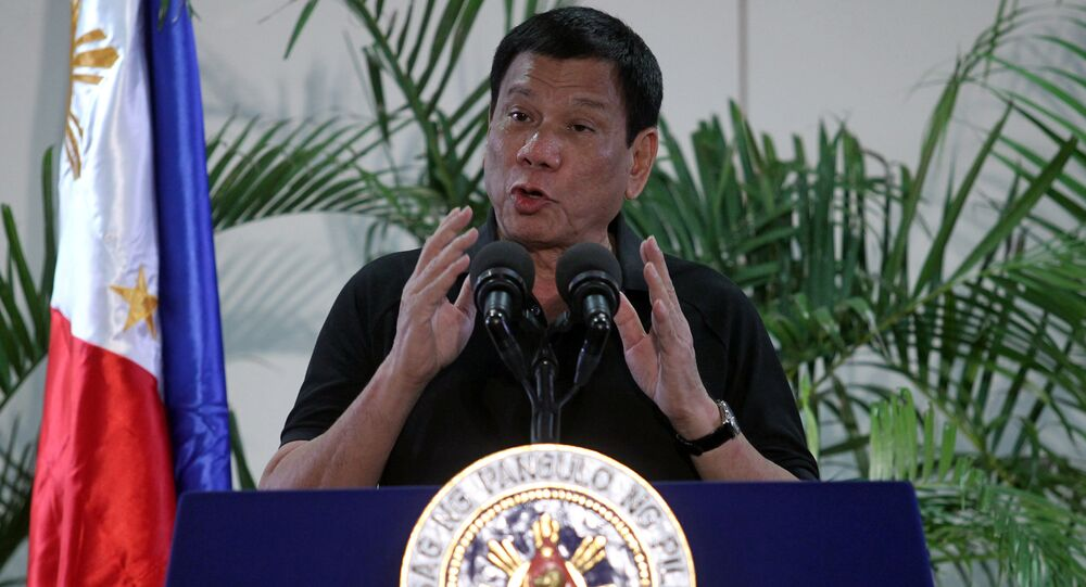Presidente Filippine Rodrigo Duterte