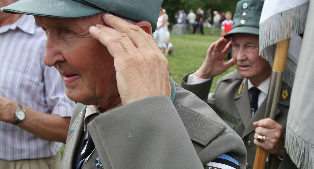 Ex combattenti SS manifestano in Estonia (foto d'archivio)