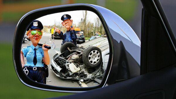 Polizia stradale - opera grafica - Sputnik Italia