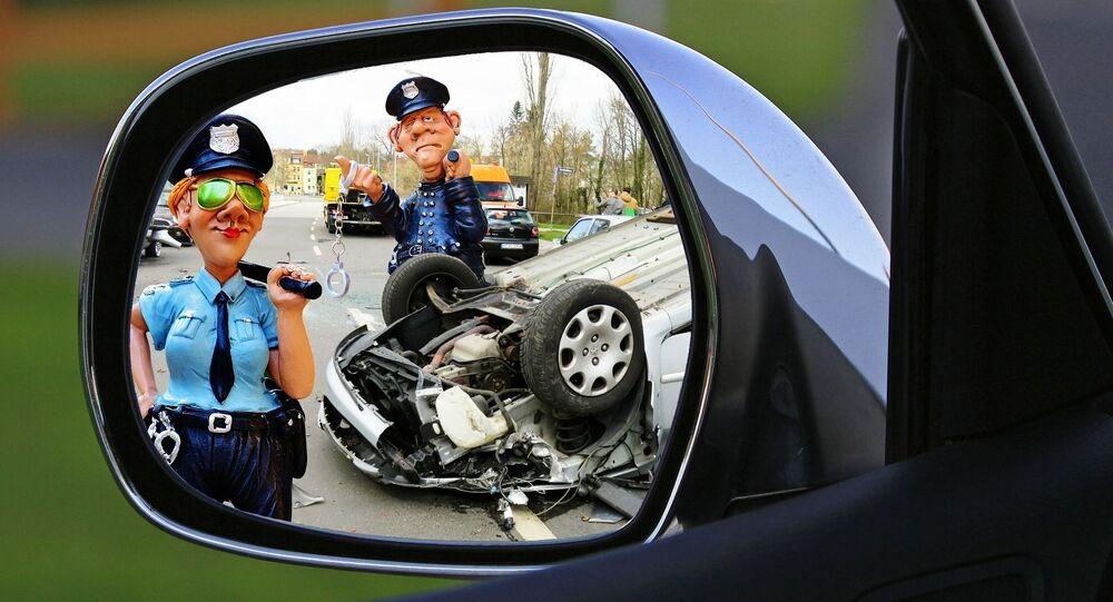 Polizia stradale - opera grafica