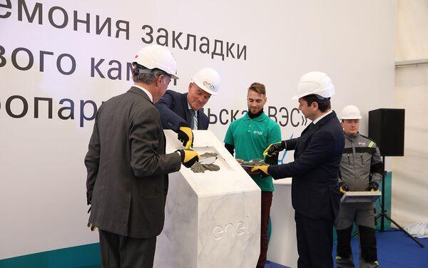 La posa della prima pietra della centrale eolica Kolskaya - Sputnik Italia