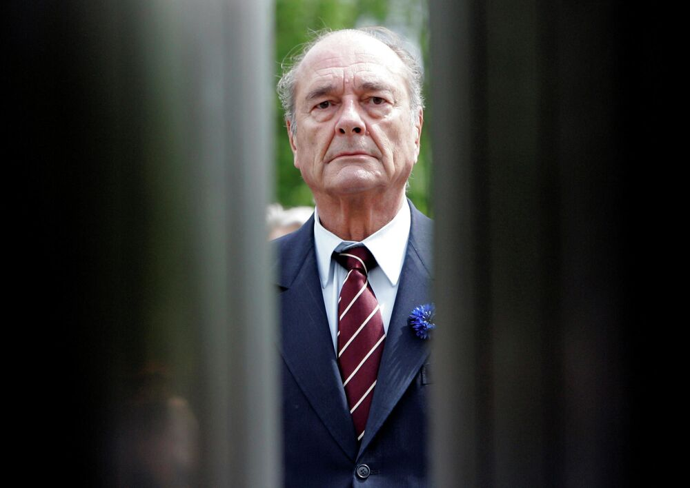 Il presidente francese Jacques Chirac l'8 maggio 2007.