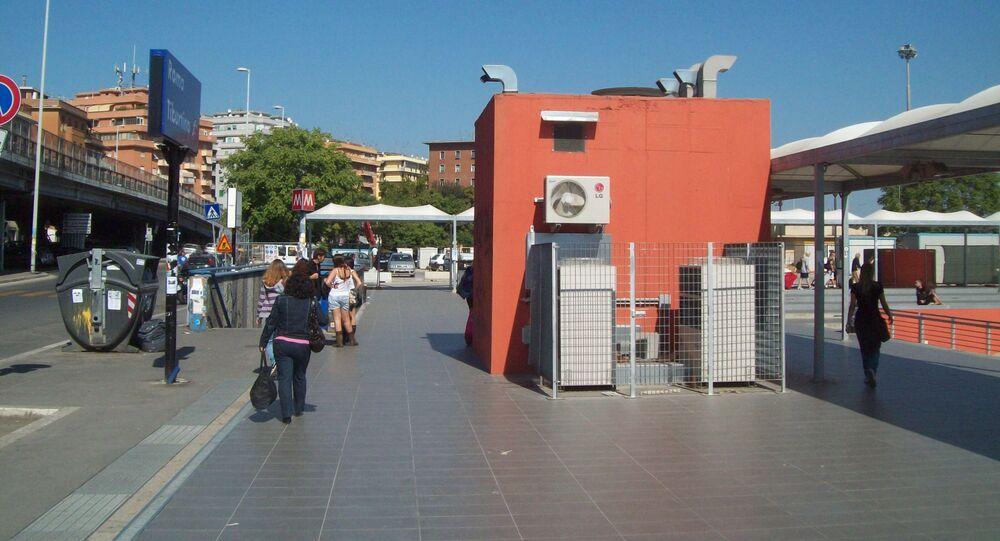 L'ingresso della stazione Tiburtina a Roma