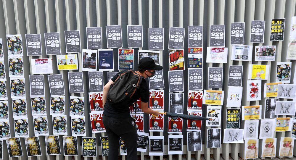il Lennon Wall a Hong Kong