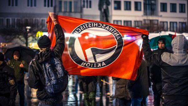 AntiFa movement protest in in Mainz, Germany. - Sputnik Italia