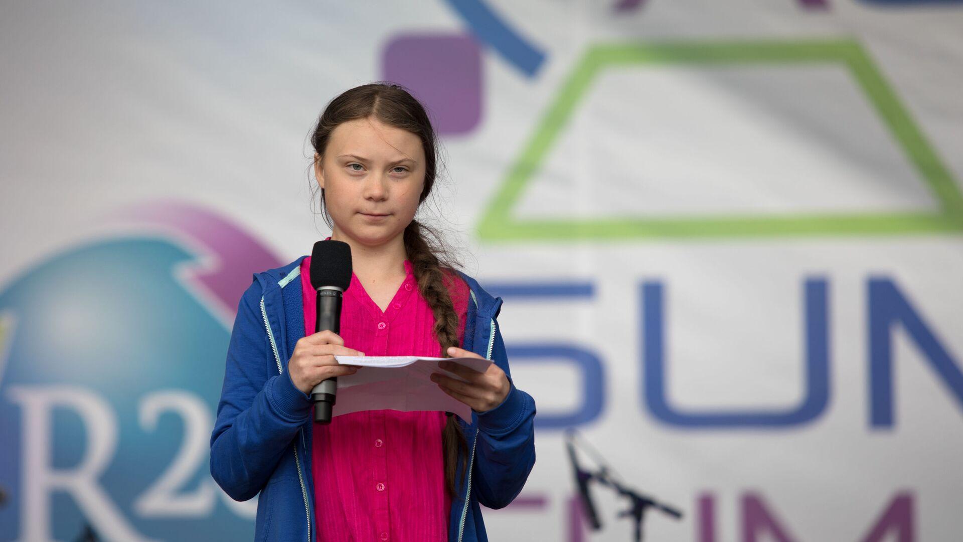 Greta Thunberg parla al Summit sul clima a Vienna - Sputnik Italia, 1920, 31.08.2021