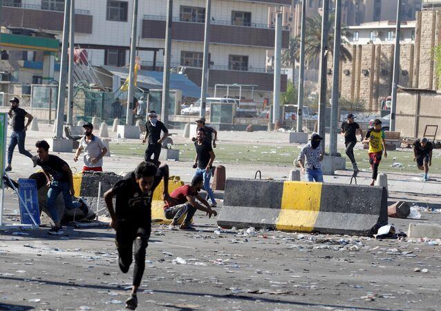 Proteste dei manifestanti in Iraq