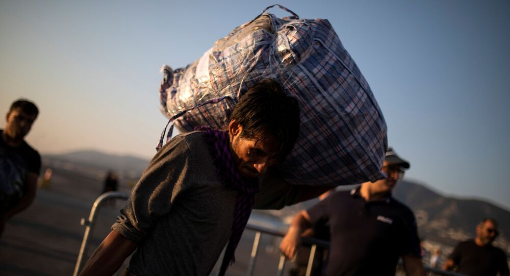 Migrante afghano in Grecia