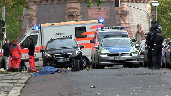 La situazione a Halle dopo la sparatoria, il 9 ottobre del 2019 - Sputnik Italia