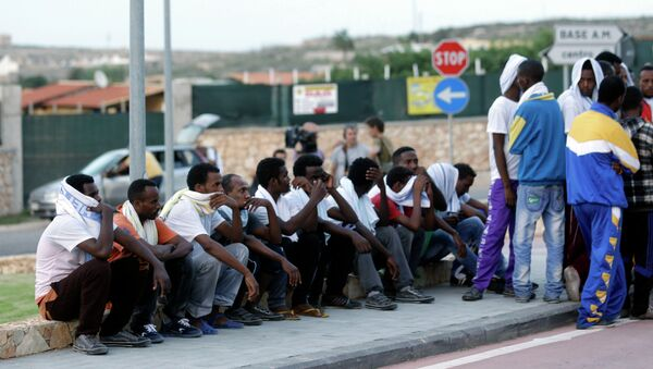 Migranti dall'Eritrea a Lampedusa - Sputnik Italia