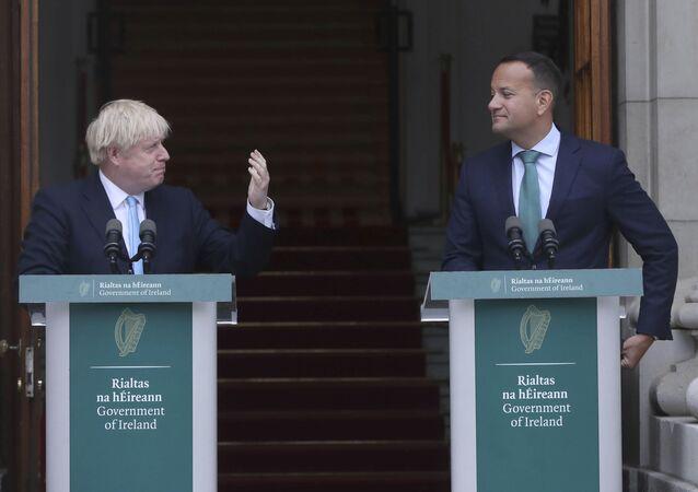 Primo Ministro britannico Boris Johnson e Primo Ministro irlandese Leo Varadkar