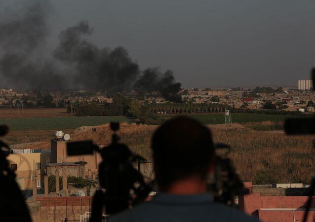 Fuoco al confine turco siriano tra Nusaybin e Qamishli