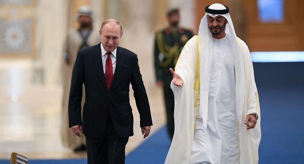 Vladimir Putin e il principe Mohammed bin Zayed Al Nahyan