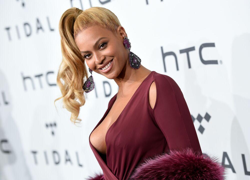 La pop star americana Beyonce su TIDAL X: 1020 a New York