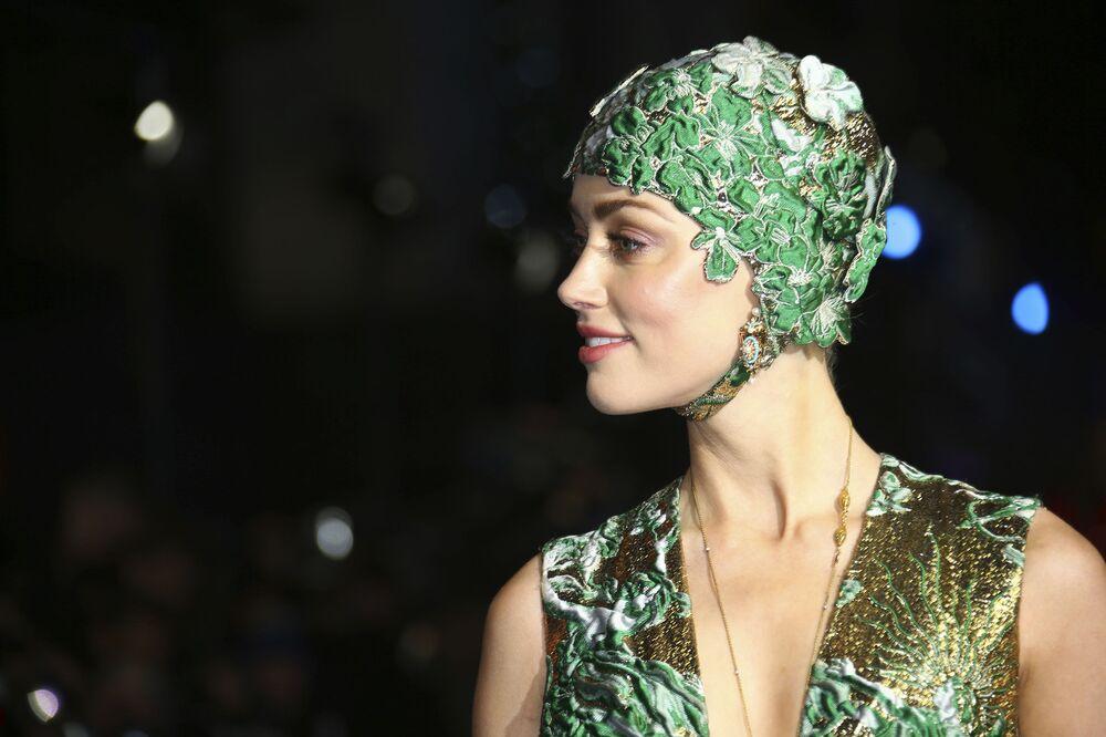 L'attrice statunitense Amber Heard alla premiere di 'Aquaman' a Londra