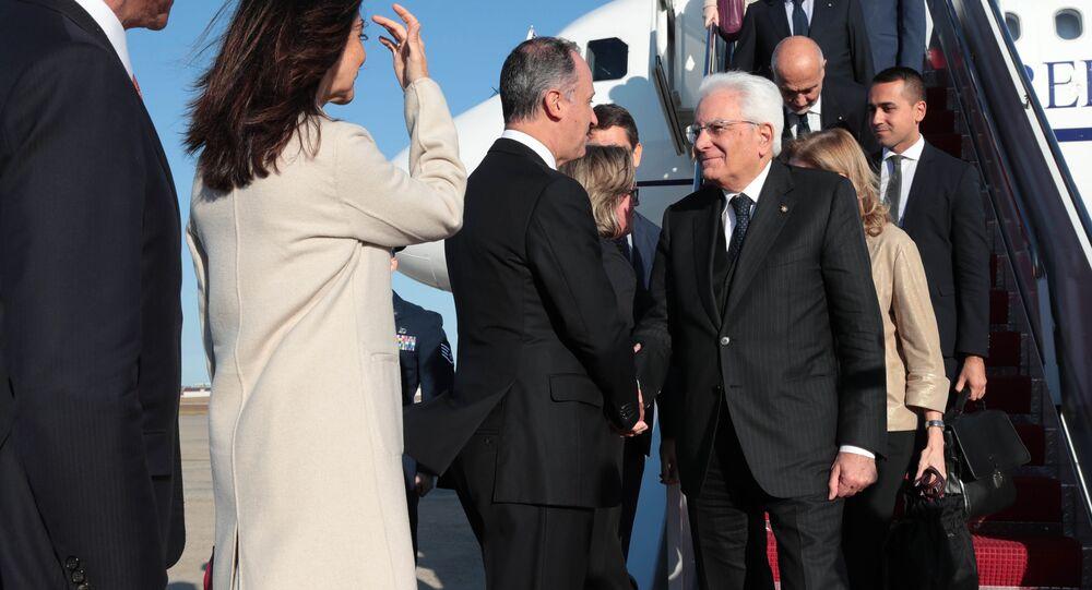 Il Presidente della Repubblica Sergio Mattarella arriva nella base aerea Andrews
