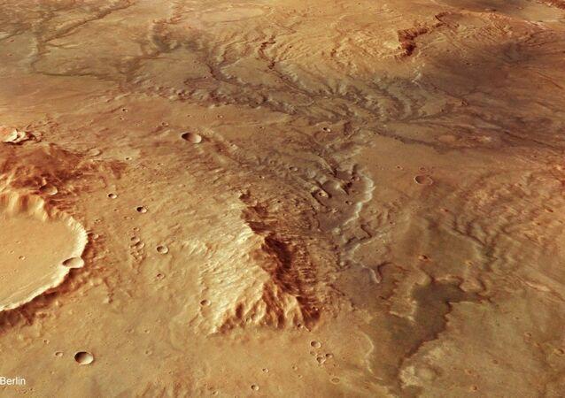 Paesaggio desertico su Marte
