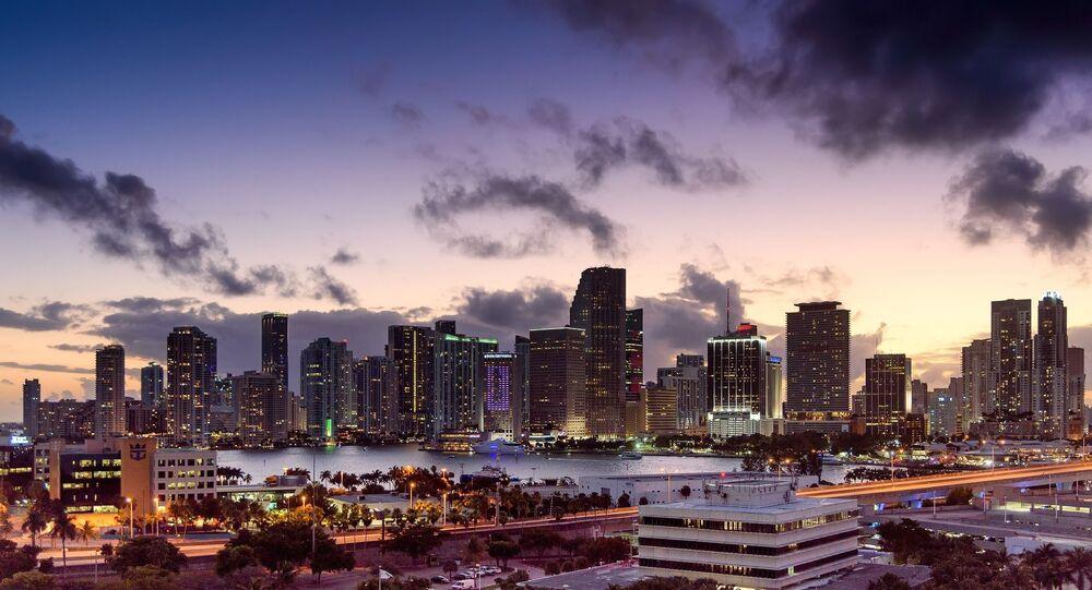 Miami, Florida, skyline, sunset