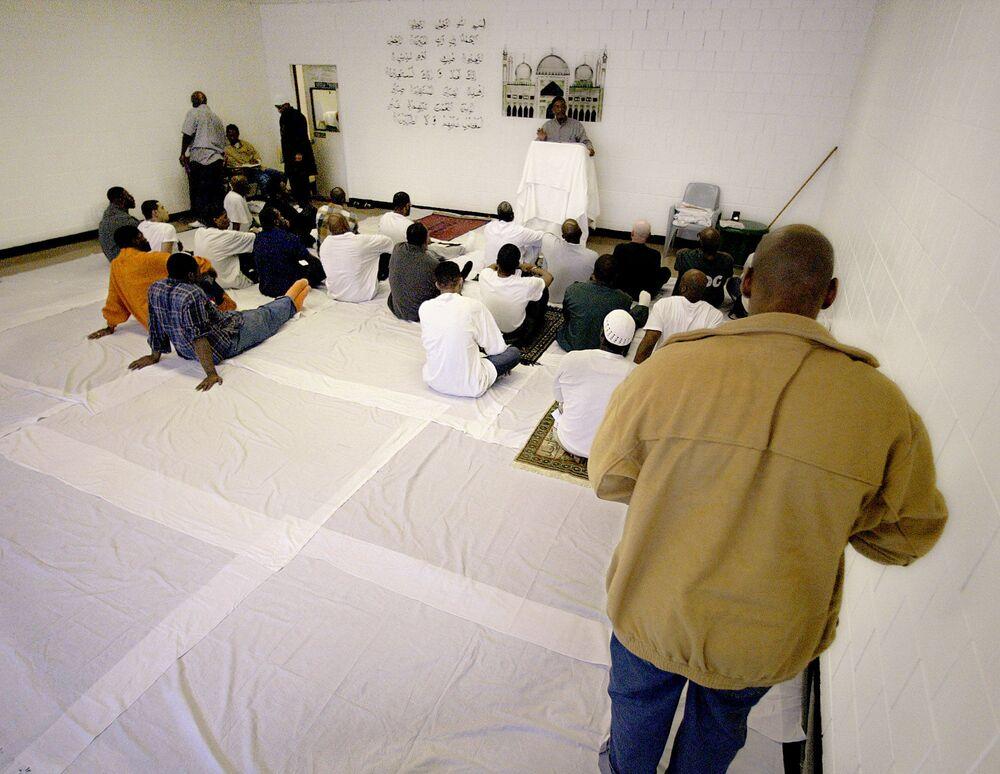 La sala di preghiera della prigione più grande del mondo Rikers Island a New York, USA