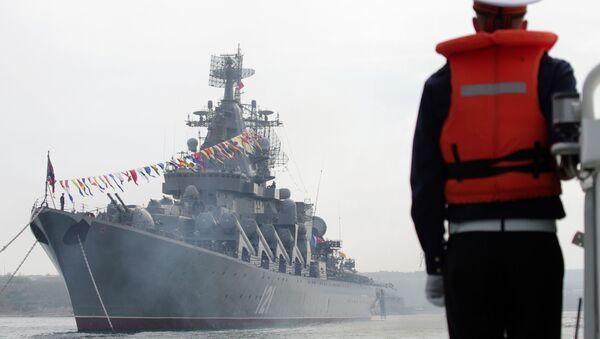 L'incrociatore missilistico Moskva (Mosca) della flotta del Mar Nero russa. - Sputnik Italia