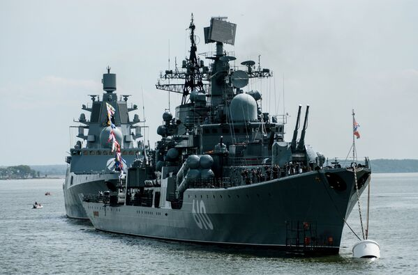 Il cacciatorpediniere Nastoicivij a Baltijsk nella regione di Kaliningrad. - Sputnik Italia