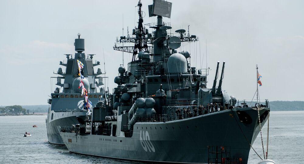 Cacciatorpedinieri della Marina russa nel Baltico