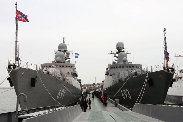 Gli incrociatori missilistici Tatarstan e Daghestan. - Sputnik Italia