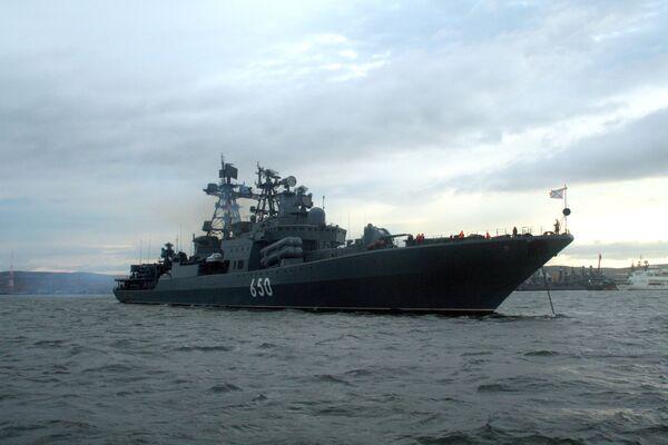 La nave antisommergibile Admiral Chabanenko della Flotta del Nord russa. - Sputnik Italia