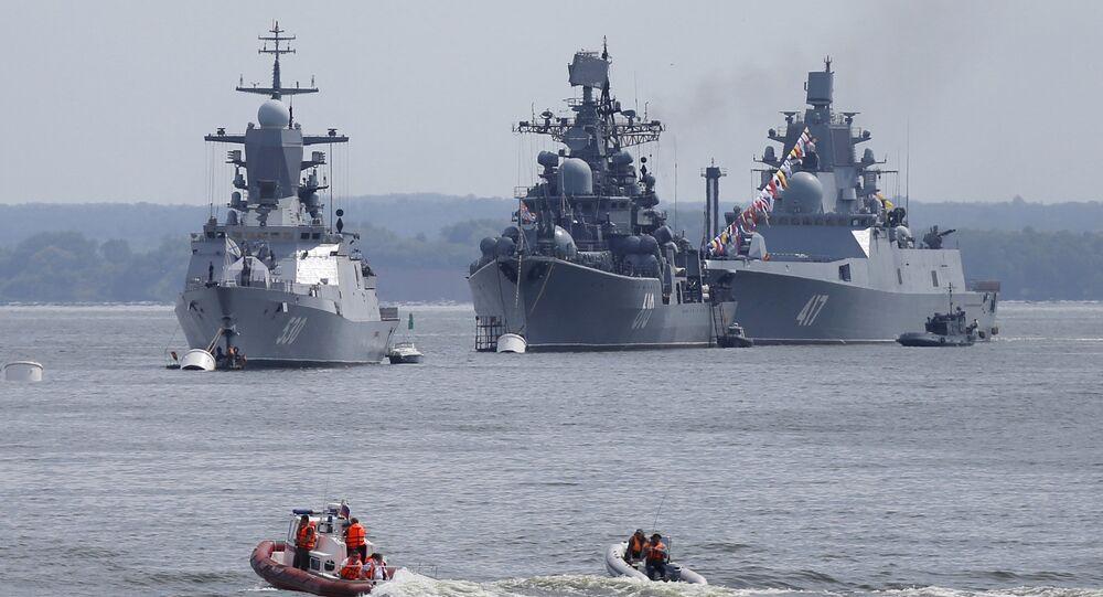 Navi militari russe (foto d'archivio)