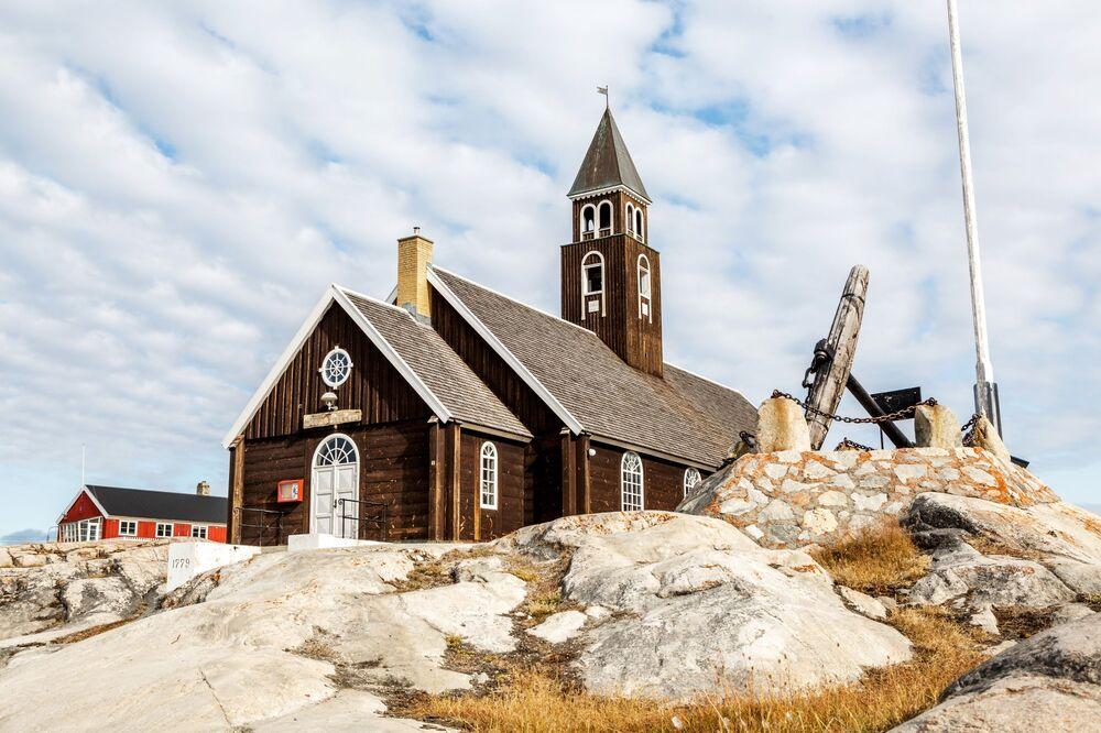 Una Chiesa luterana nella città di Ilulissat - Groenlandia