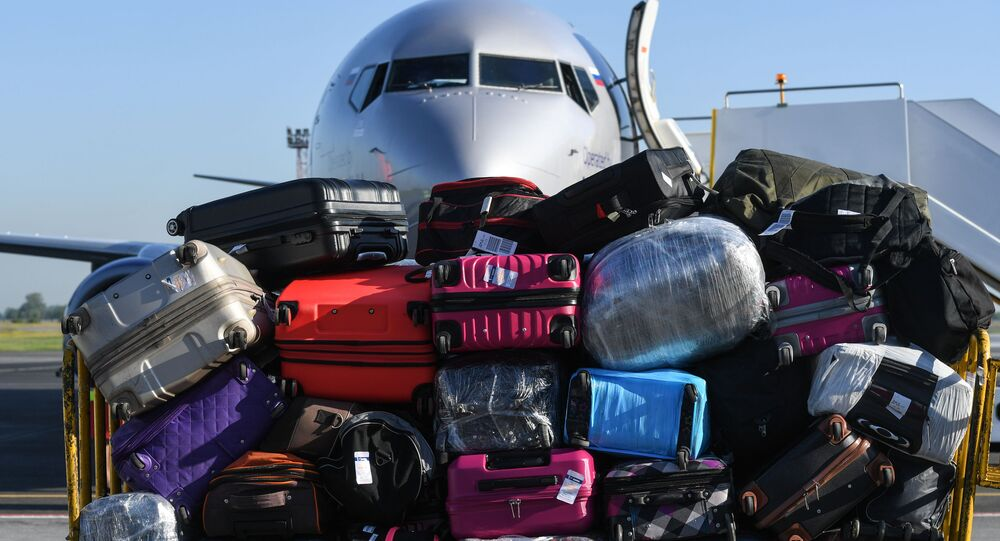 Bagagli in un aeroporto in Russia