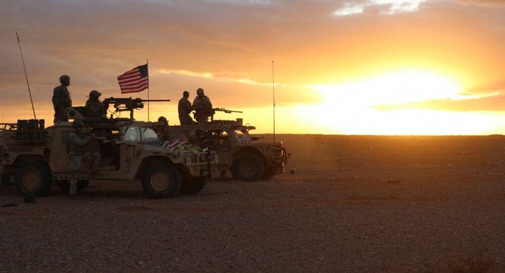 I soldati americani vicino Al-Tanf