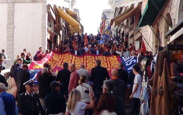 Manifestazione del 22 ottobre a Venezia - Sputnik Italia
