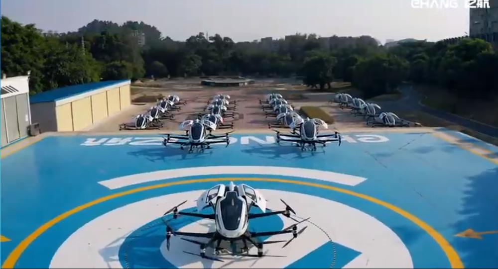 Elicotteri EHang per aerotaxi