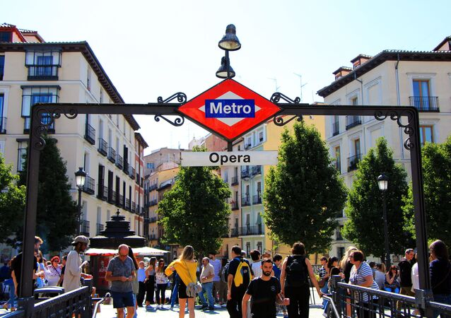 Entrata metro di Madrid