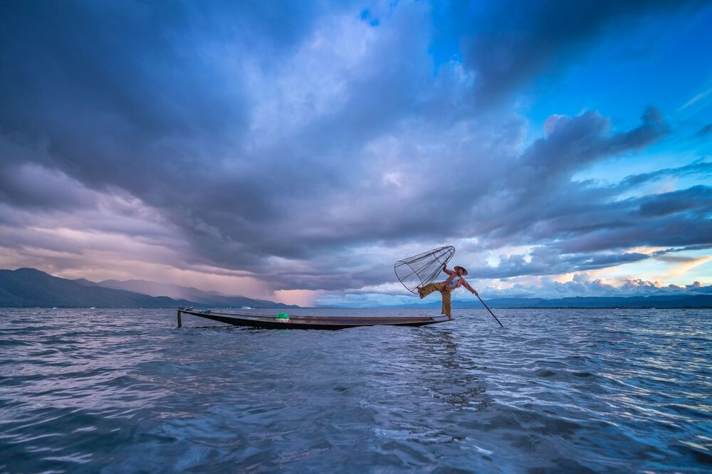 La foto 'Un cielo blu' presentata al concorso delle migliori foto del mondo #Blue2019