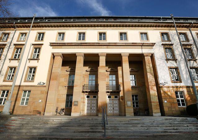 Eingang in den Thüringer Landtag, Erfurt