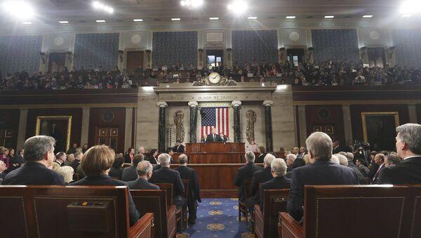 Il presidente Trump prende la parola alla Camera dei rappresentanti - Sputnik Italia