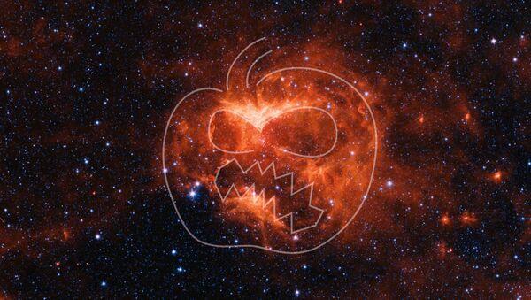 La Nasa ha pubblicato l'immagine di una zucca spaziale per Halloween - Sputnik Italia