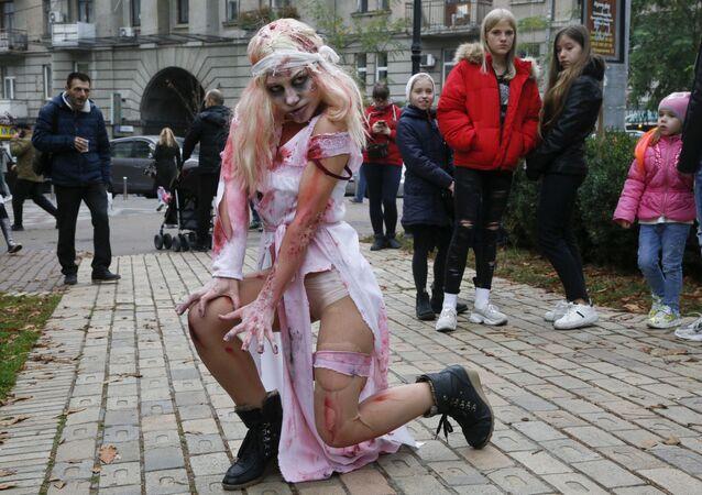 Un costume di zombie