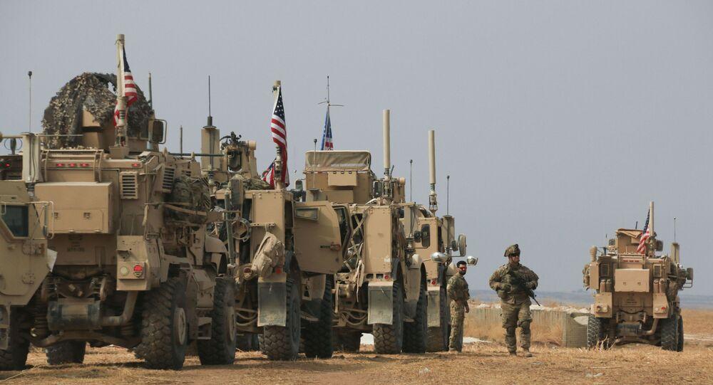 Un convoglio americano nella Siria nord-orientale.
