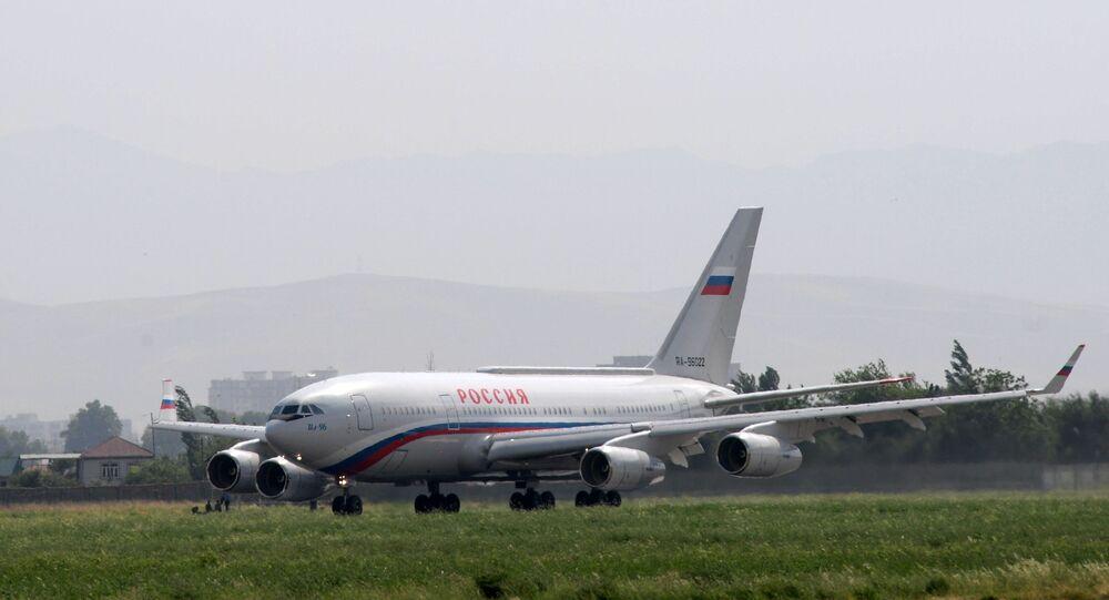 L'aereo di stato russo Ilyushin Il-96